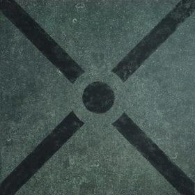 vtwonen Duostone Cross black buitentegel 60x60cm