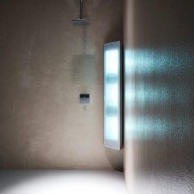 Sunshower Combi white UV/Infra-rood paneel voor onder de douche, opbouw