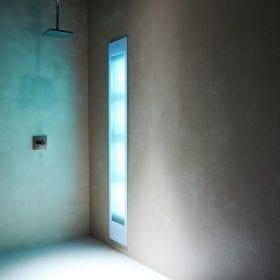 Sunshower Deluxe white UV/infra-rood paneel voor onder de douche, inbouw
