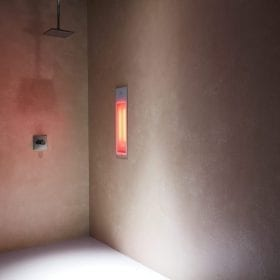 Sunshower Pure white infra-rood paneel voor onder douche, inbouw