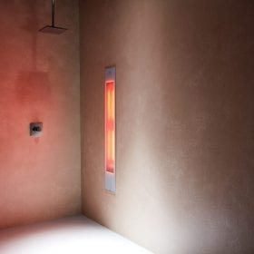 Sunshower Pure white XL infra-rood paneel voor onder de douche, inbouw