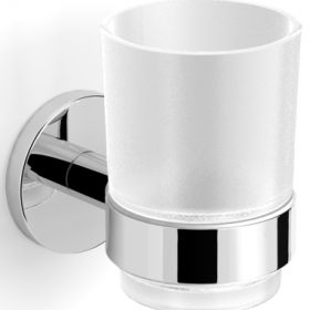 M-Style serie 200 glashouder met glas chroom