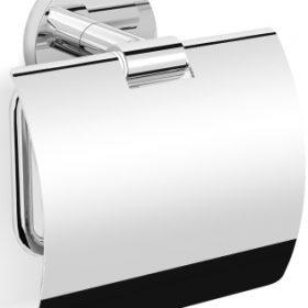 M-Style serie 200 closetrolhouder met klep chroom