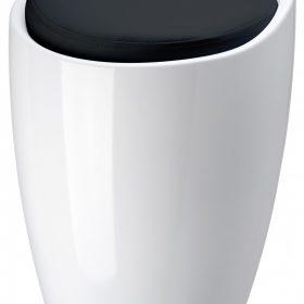 M-Style badkamerzitje wit/zwart