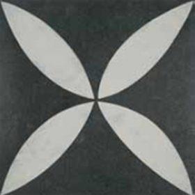 VT Wonen D&J design flower white 60x60cm vloertegel