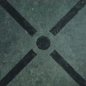VT Wonen D&J design cross black 60x60cm vloertegel