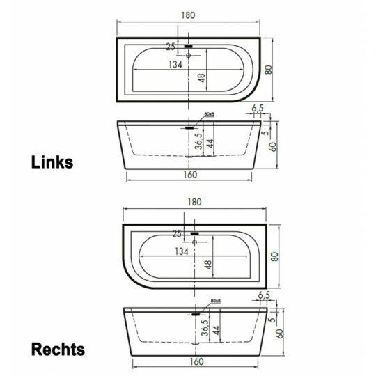 beterbad-charley-hoek-180x80x60cm-rechts-duobad-250l-acryl-wit