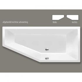 Xenz Society compact linkse uitvoering 170x75cm wit ligbad
