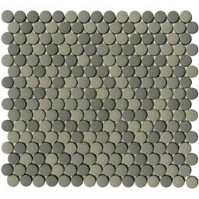 L'Antic colonial Glaze dots greys matt 31,5x29cm mozaïek
