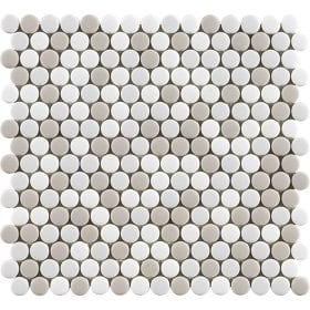 L'Antic colonial Glaze dots beiges matt 31,5x29cm mozaïek