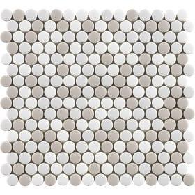 L'Antic colonial Glaze dots beiges matt 31,5x29cm mozaïek