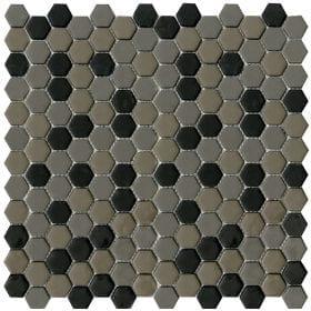 L'Antic colonial Glaze hexagon greys/black matt 30,2x30cm mozaïek