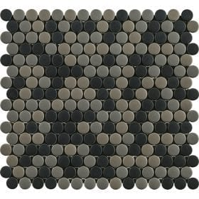 L'Antic colonial Glaze dots greys/black matt 31,5x29cm mozaïek