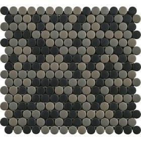 L'Antic colonial Glaze dots greys/black matt 31,5x29cm mozaïek