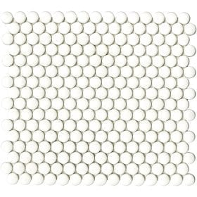 L'Antic colonial Glaze dots whites matt 31,5x29cm mozaïek