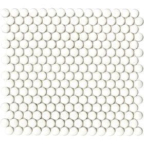 L'Antic colonial Glaze dots whites matt 31,5x29cm mozaïek