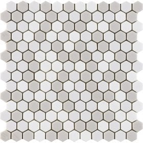 L'Antic colonial Glaze hexagon beiges 30,2x30cm mozaïek