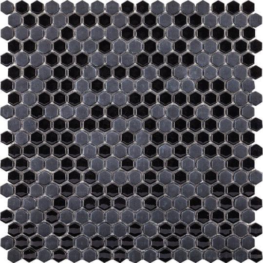 GLAZE MINI HEXAGON BLACK 29.5X30X0.6