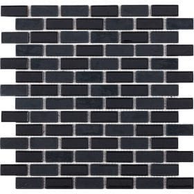 L'Antic colonial Glaze brick black 32,2x30cm mozaïek
