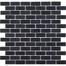 L'Antic colonial Glaze brick black 32,2x30cm mozaïek