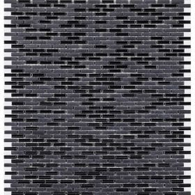 L'Antic colonial Glaze micro brick black 28,4x30cm mozaïek