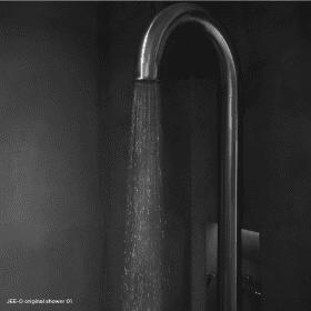 Jee-O original shower 01 geborsteld RVS vrijstaande douche