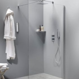 M-Style serie 100 walk-in douchewand 100cm met timeless glas