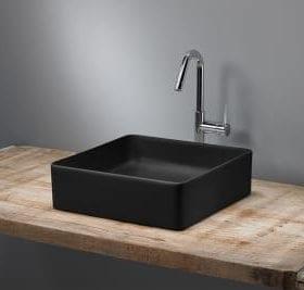M-Style serie 600 opzetwastafel 36x36cm mat zwart