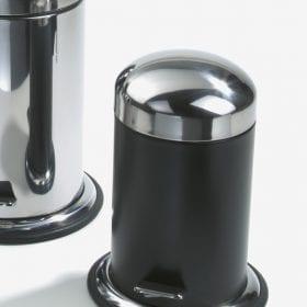 Decor Walther pedaalemmer TE30 zwart/gepolijst RVS