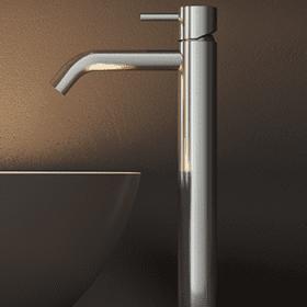 Hotbath Archie AR003H highriser wastafelkraan zonder waste, RVS