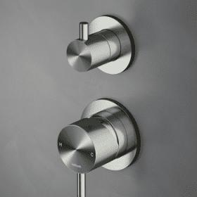 Hotbath Archie AR032 inbouw douchemengkraan met 2 weg omstel, RVS