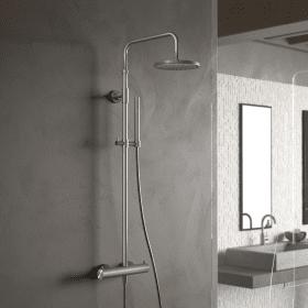 Hotbath Archie SDS30 showerpipe opbouw regendouche RVS
