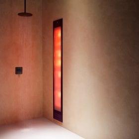 Sunshower Deluxe black UV/infra-rood paneel voor onder de douche, inbouw