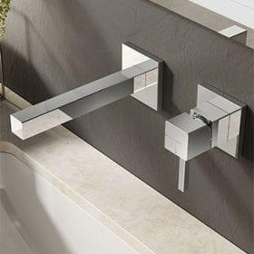 Hotbath Bloke Q005 inbouw wastafelmengkraan chroom