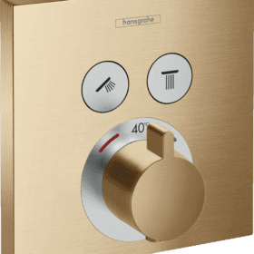 Hansgrohe Ecostat Comfort, thermostaat afbouwdeel finish plus brushed bronze 15763140