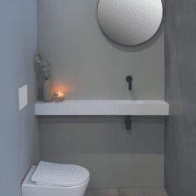 Ink Nice fontein met vierkante wastafel wit hooglans 120cm, versie rechts, 3403120