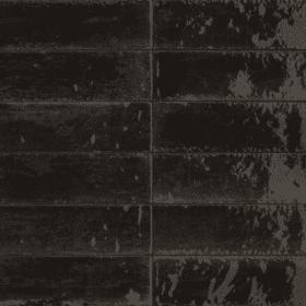 Piet Boon Glaze Tile black 6x24cm wand- en vloertegel