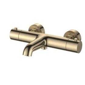 Regn thermostatische badmengkraan geborsteld goud 10007BB