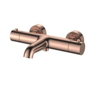 Regn thermostatisch coldtouch badmengkraan geborsteld rosé goud 10007RG