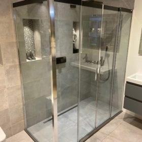 Sealskin Duka 4200-2 douchecabine, chroom, helder glas, 180x90cm SHOWROOMMODEL