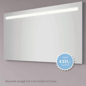 Hipp Design SPM1100 spiegel 180x70cm met lichtbalk